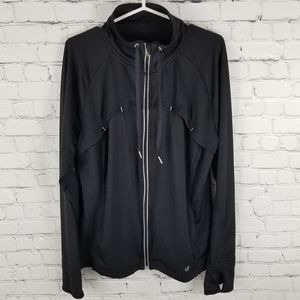 CHAMPION | full zip high drawstring neck jacket
